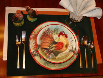 roosterplacesetting
