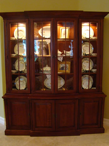 Decorated china cabinet - MattandShari.com