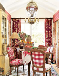 Red is Wonderful in a Dining Room - MattandShari.com