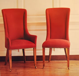 Chairs all Dressed in Red - MattandShari.com