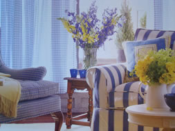 Blue with Yellow Accented Room - MattandShari.com