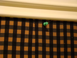 Use Push Pins to Hold Fabric in Place - MattandShari.com