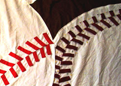 Different Colored Stitches on the Baseballs - MattandShari.com