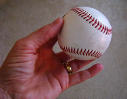 Use a Real Baseball to get Stitches Right - MattandShari.com