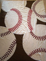 The Baseball Quilt Top Takes Shape - MattandShari.com