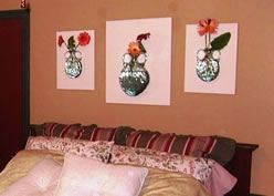 Dimensional Floral Wall Display