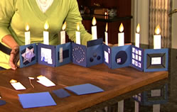 Fan Folded Menorah Card