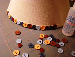 Lamp Shade Embellished with Buttons