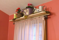 Easy Shelf Window Valance