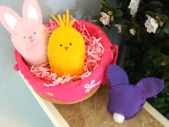 Fun and unique easter project ideas easter egg and bunny articles how to sew felt chicks and bunnies for easter negle Gallery