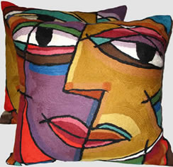 Colorful Contemporary Pillows - MattandShari.com