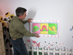 Hang Art Low in a Child's Room - MattandShari.com