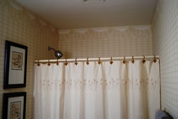 Shower Curtain Hung Too Low - MattandShari.com