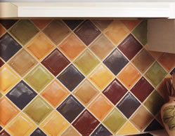 faux kitchen tile wallpaper. how to paint a faux tile backsplash · decorating_handpaintedwallflowers_1flowers1 kitchen wallpaper t