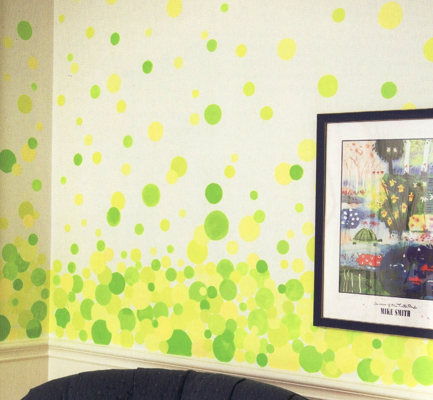 Kid\'s Room Bubble Painting Technique - Matt and Shari
