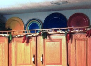 Colorful Upper Cabinets