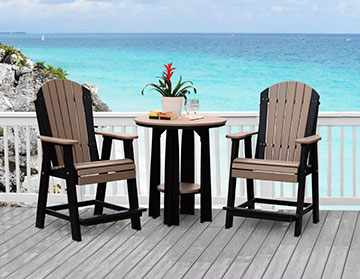 Balcony Table and Chairs from Carefree Poly Furniture