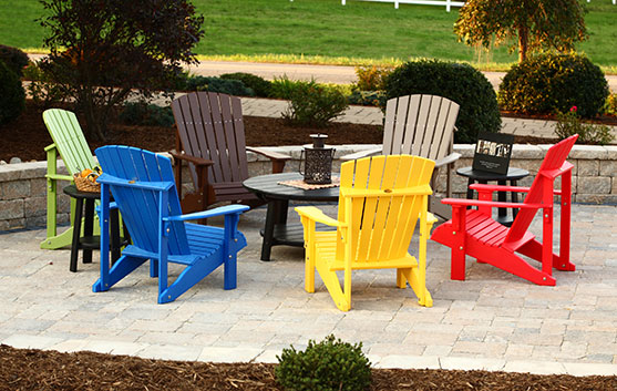 Colorful Adirondack Chairs from Carefree Poly Furniture