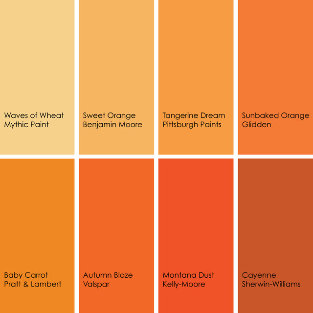 The color orange works best in small amounts matt and shari Shades of orange colour chart