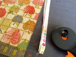 apron - Removing Selvage