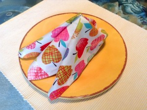 Apple Pattern Cloth Napkins