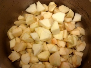 Diced Apples for Applesauce