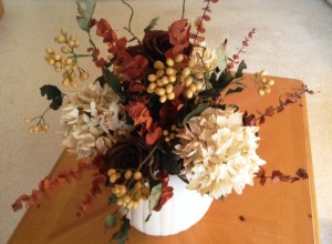 Autumn Centerpiece with Eucalyptus - MattandShari.com