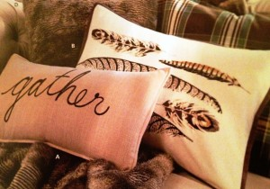 Fall Birds - Feather Pillow