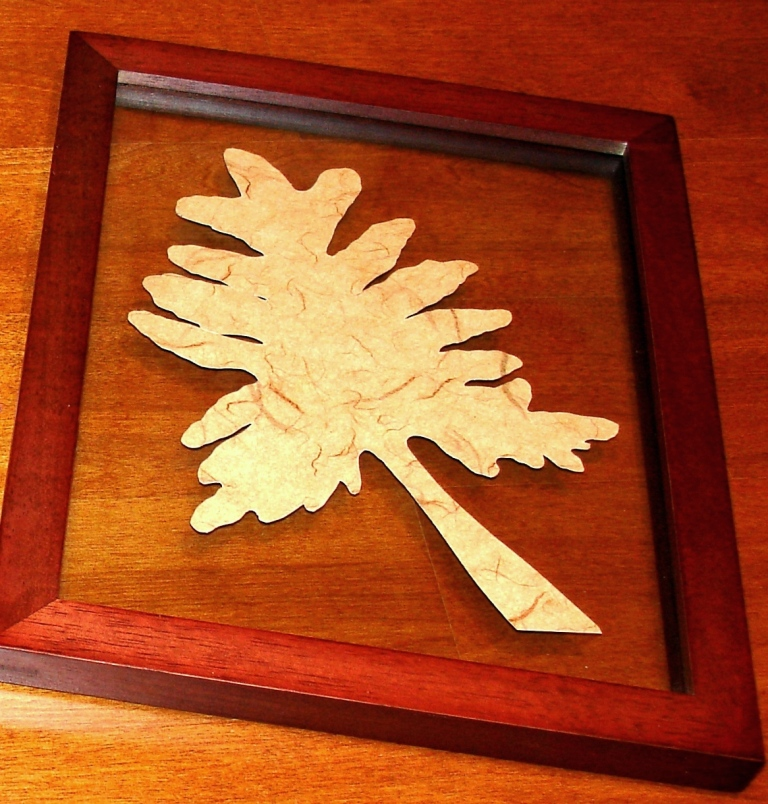 Framed Leaves in Glass - MattandShari.com
