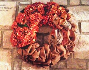 Gathered Burlap Wreath