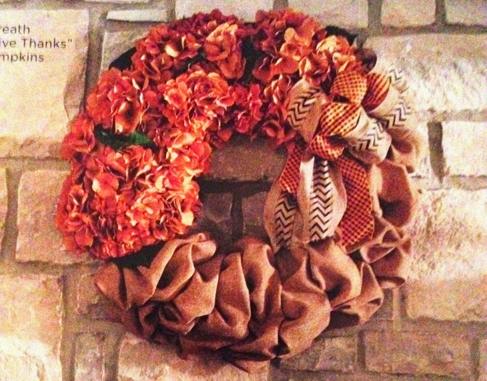 Gathered Burlap Wreath - MattandShari.com
