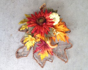 Leaf Shaped Wreath Backing