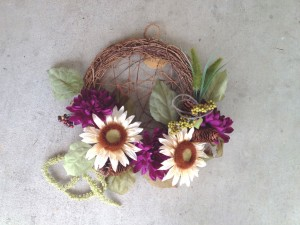 Grapevine Sunflower Wreath