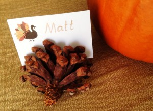 Stress Free Thanksgiving Place Cards - MattandShari.com