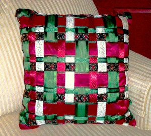 Holiday Ribbon Pillow - MattandShari.com