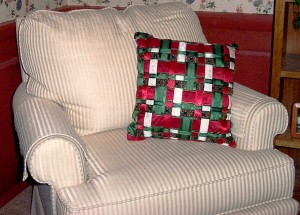 Holiday Ribbon Pillow Too - MattandShari.com