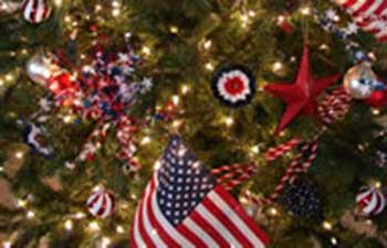 July S Tree Is All Red White And Blue Holiday Junetreefl Junetree1