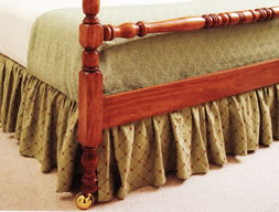 Learning To Sew A Ruffled Bedskirt Teaches You How Gather Fabric Hems And Save Money By Sewing Decorative Items Yourself