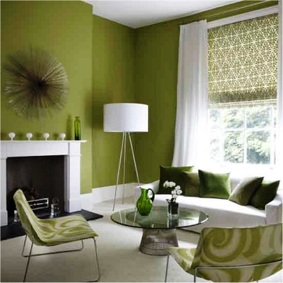 The Color Green is an Ideal Wall Color - Matt and Shari